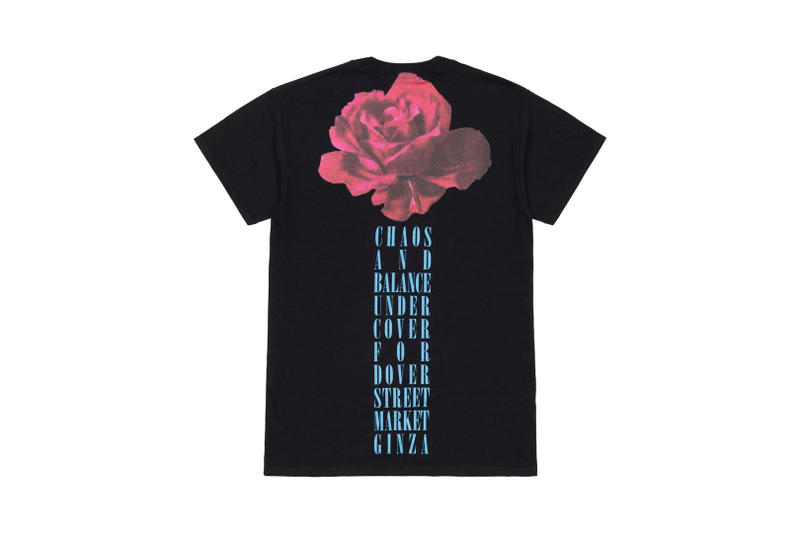 UNDERCOVER Dover Street Market Ginza 5th Anniversary Chaos and Balance Rose T-Shirt Back