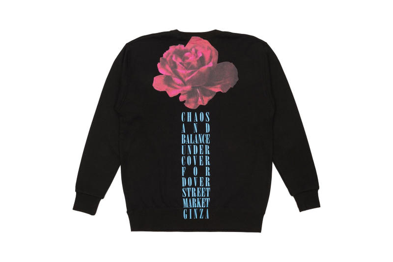 UNDERCOVER Dover Street Market Ginza 5th Anniversary Chaos and Balance Rose Crewneck Back