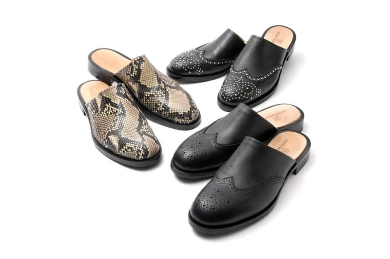 uniform experiment Leather Wingtip Sandals