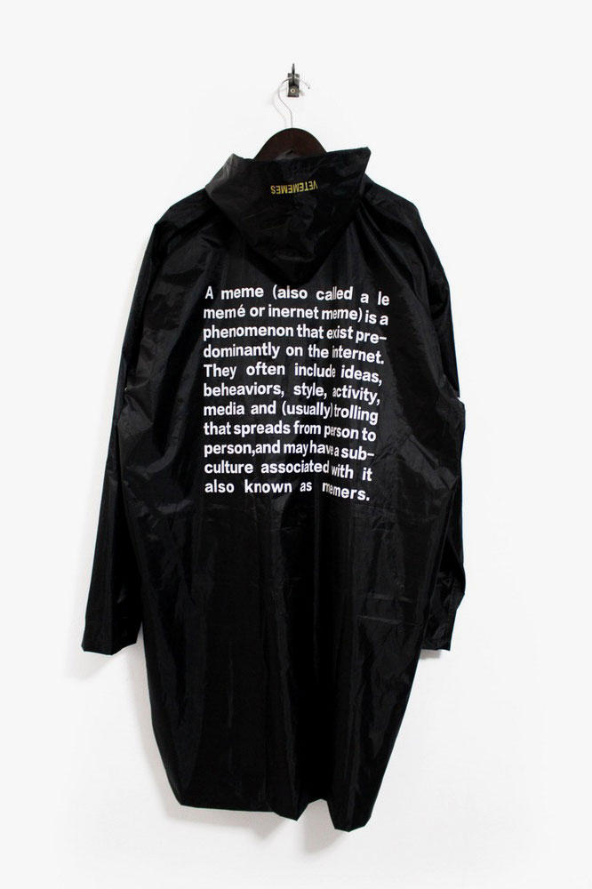 Vetememes Definition-Print Raincoat