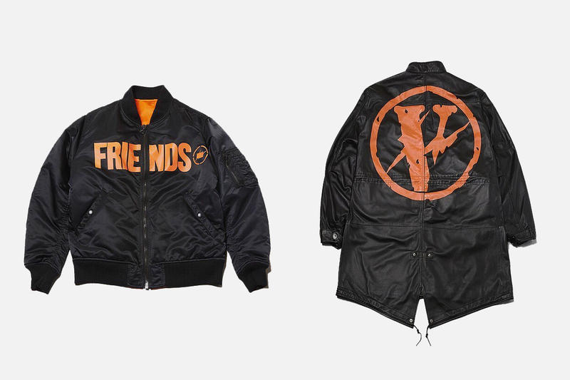 VLONE x fragment design THE PARK ING GINZA Bomber and Parka