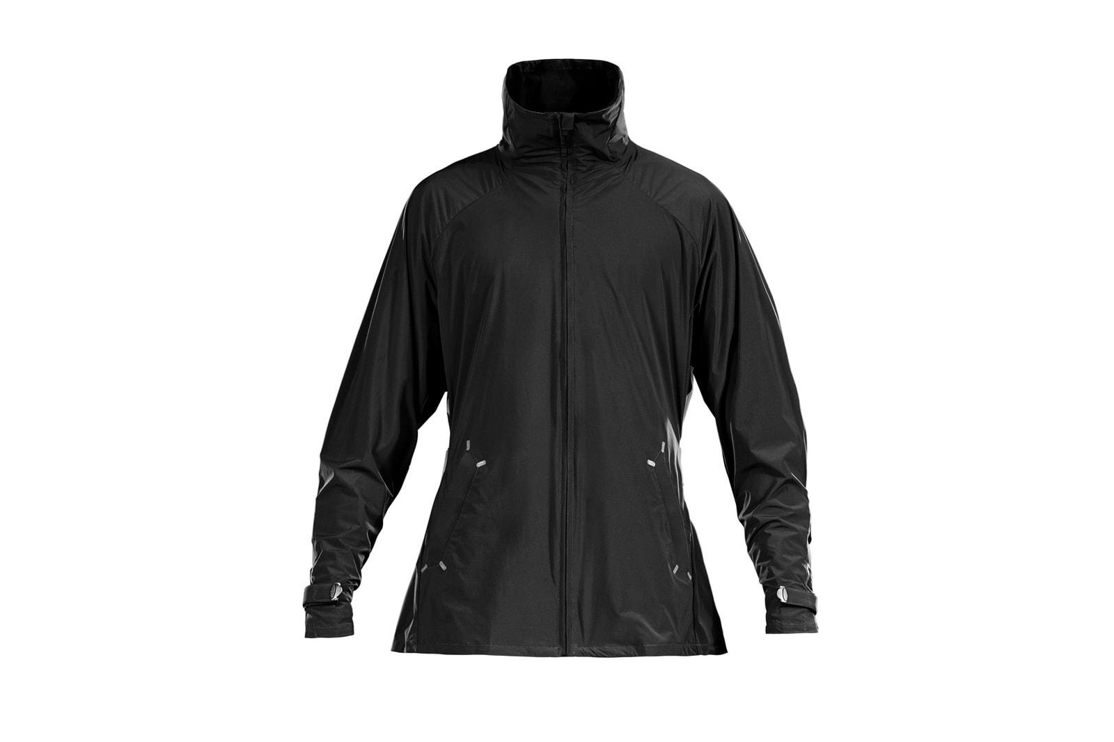 Y-3 SPORT 2017 Spring Summer Collection Approach Merino Rain Zip Jacket Tee Black 3M