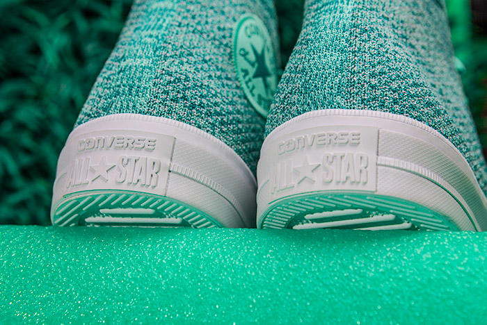 Converse Chuck Taylor All-Star x Nike Flyknit Teal Colorway Heel