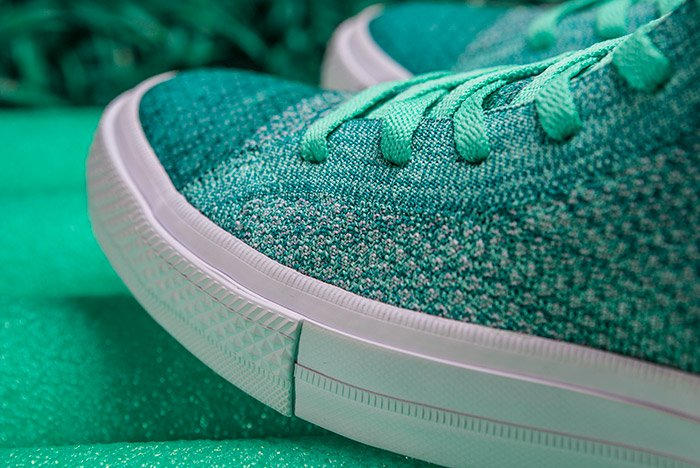 Converse Chuck Taylor All-Star x Nike Flyknit Teal Colorway Side View