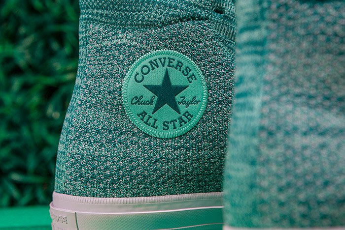 Converse Chuck Taylor All-Star x Nike Flyknit Teal Colorway Logo