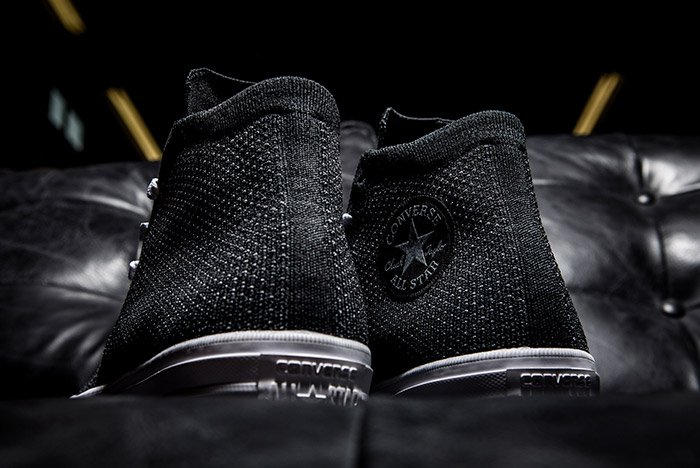 Converse Chuck Taylor All-Star x Nike Flyknit Black Colorway Back