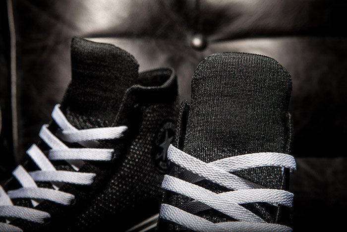 Converse Chuck Taylor All-Star x Nike Flyknit Black Colorway Laces