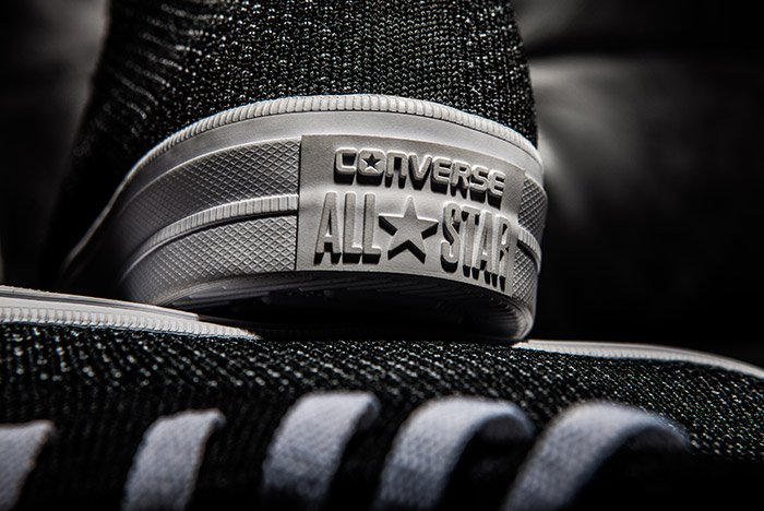 Converse Chuck Taylor All-Star x Nike Flyknit Black Colorway Heel