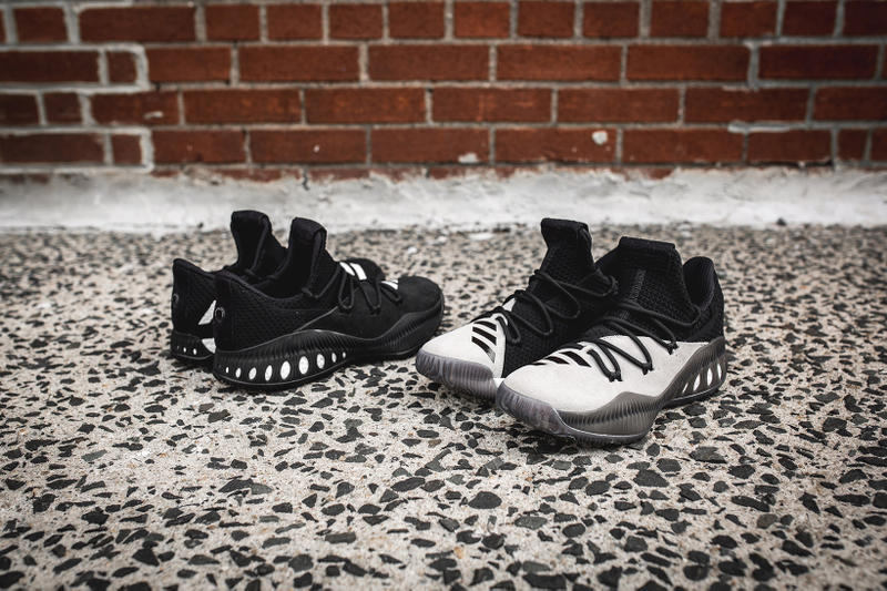 b28f7bb3bbb adidas Consortium Crazy Explosive Low Black White. 1 of 5