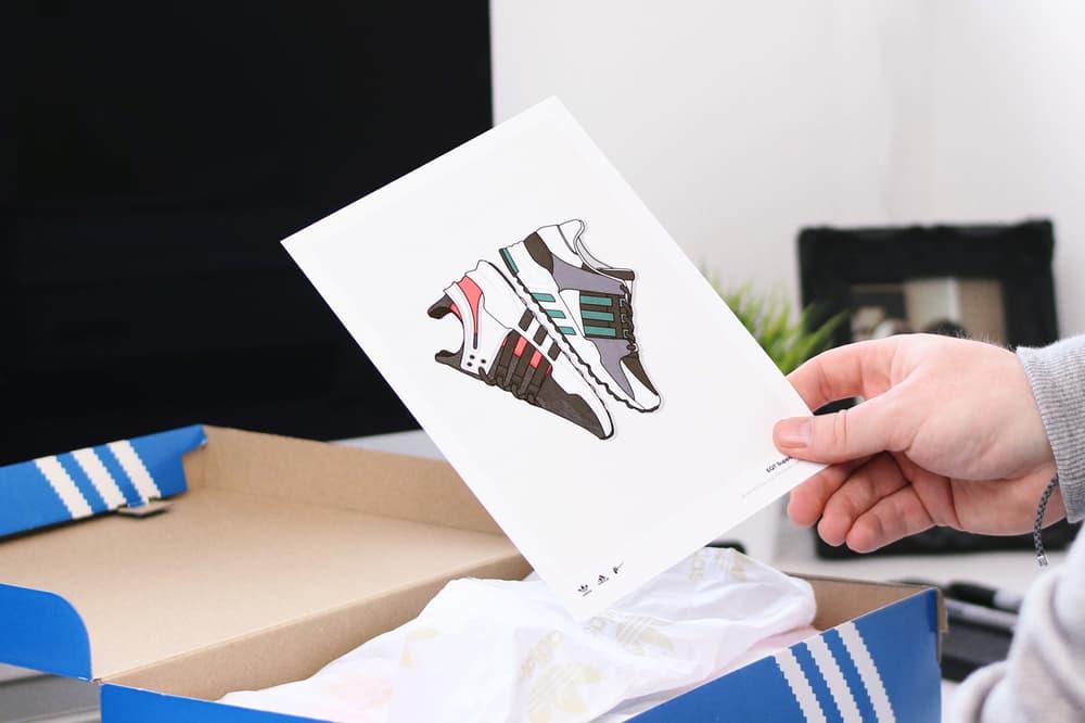 adidas Dan Freebairn Illustrations Prints Art Artwork Sneakers Footwear