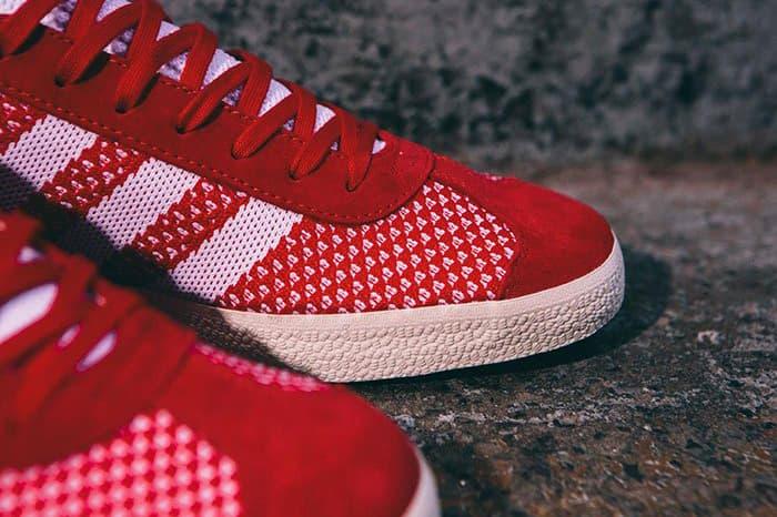 adidas Gazelle Primeknit Scarlet Red Blue Clear Onyx