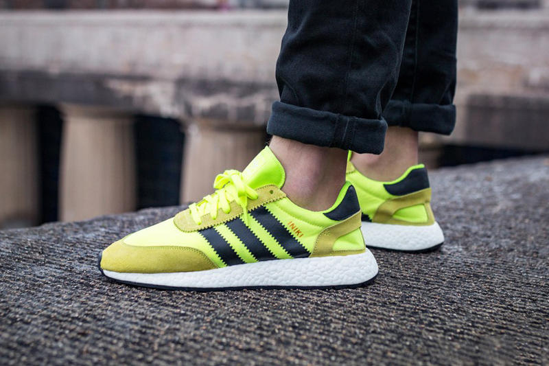 adidas Iniki Runner BOOST Solar Yellow Core Black