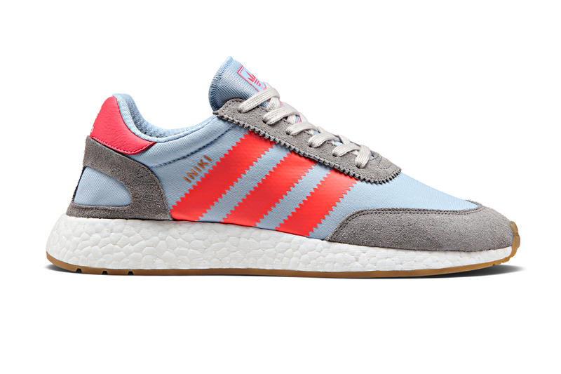 adidas Release Iniki Runner Grey Red Colorway  3372f63ec