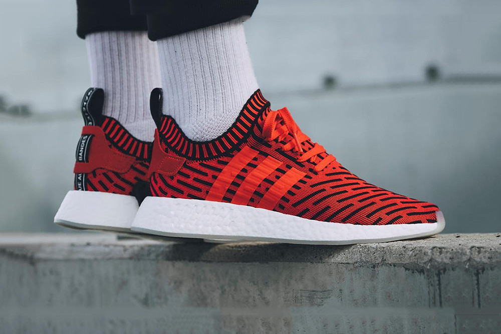 adidas NMD R2 Core Red/Black Striped