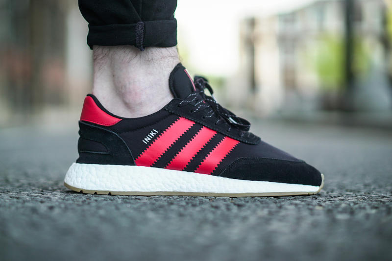 adidas Originals Iniki Runner BOOST London Exclusive Red Black a5905e494