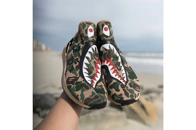 Adidas Originals NMD XR1 BAPE 1ST CAMO SHARK Custom Footwear Shoes Sneakers