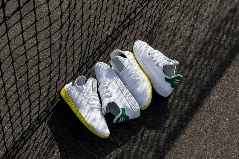 Pharrell Williams adidas tennis hue human race colorway yellow gold