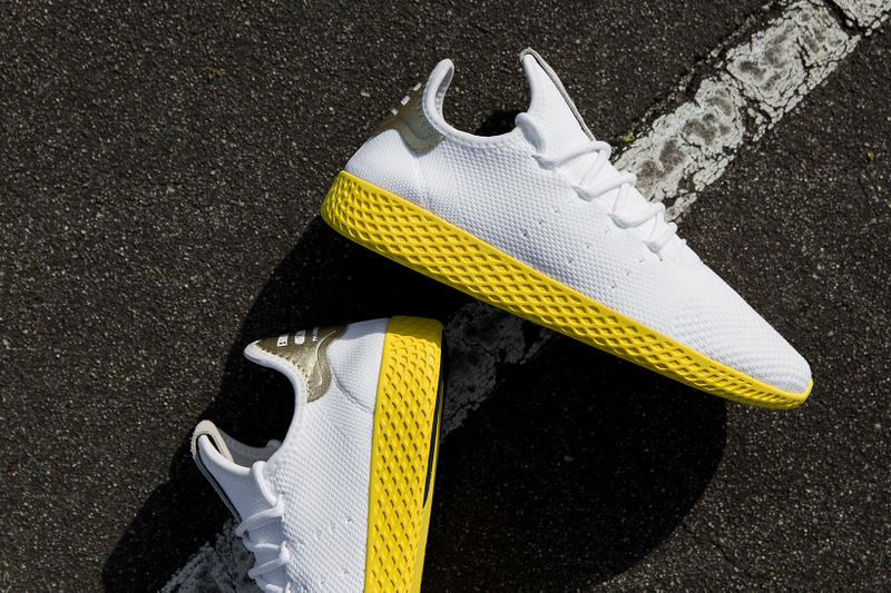 new style ad01c 9e986 Pharrell x adidas Tennis Hu Goes for Gold | HYPEBEAST