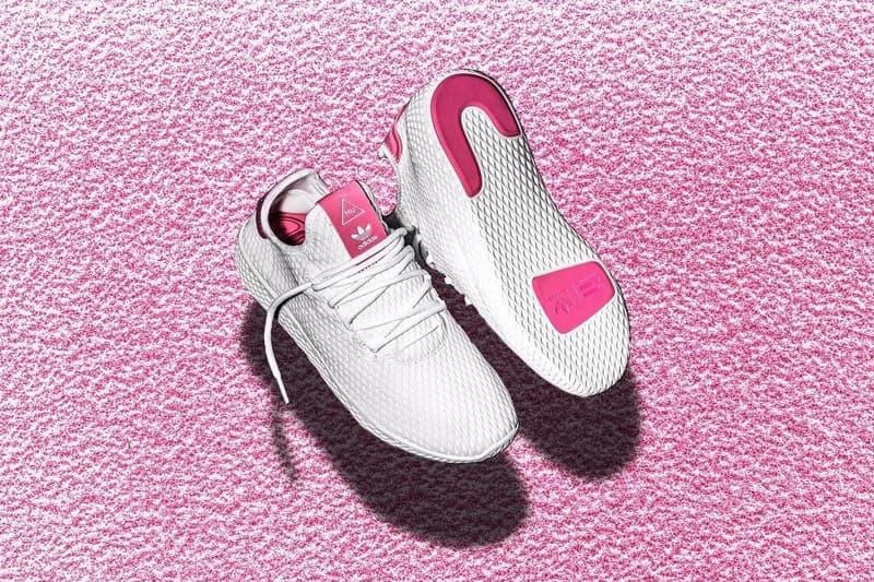 "Pharrell x adidas Originals Human Race ""White Pink""  Three Stripes Germany Pharrell Williams Primeknit Stan Smith"