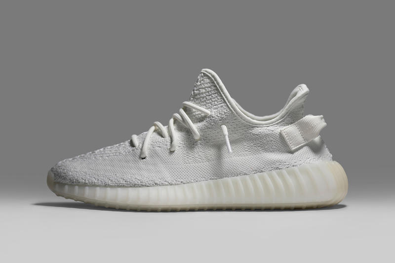 adidas Originals YEEZY BOOST 350 V2 Cream White GOAT All White Sneaker Kanye West