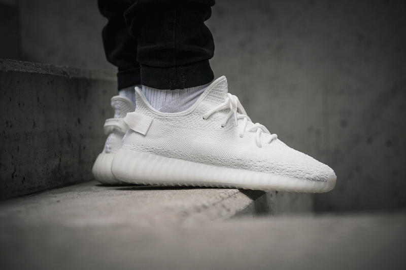 Kanye West adidas Originals YEEZY BOOST 350 V2 Cream White On Feet Closer Look