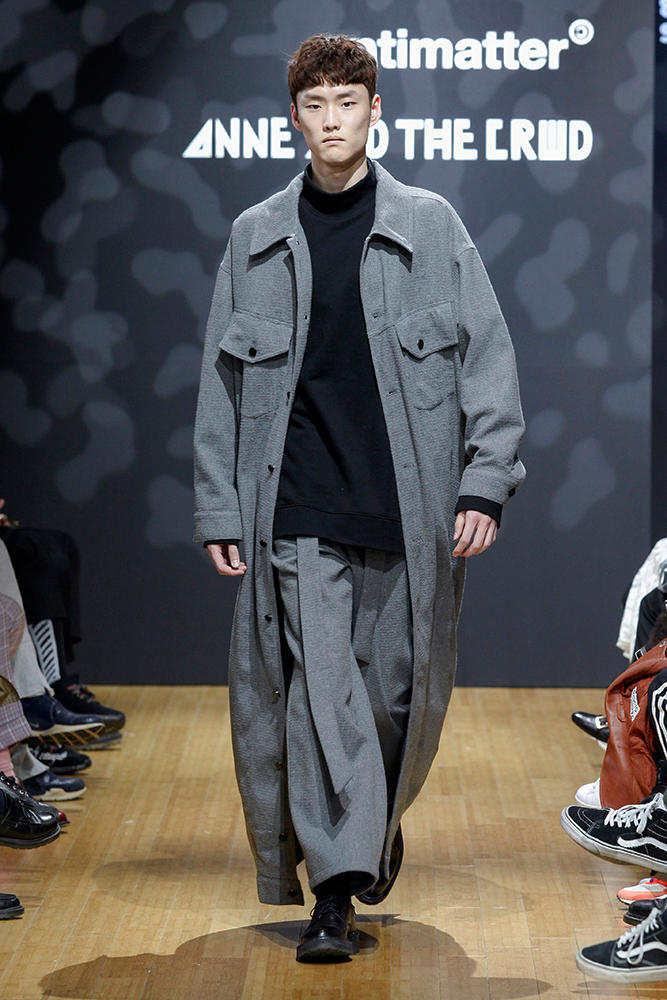 ANTIMATTER 2017 Fall Winter Grey Collection Seoul Fashion Week 2017