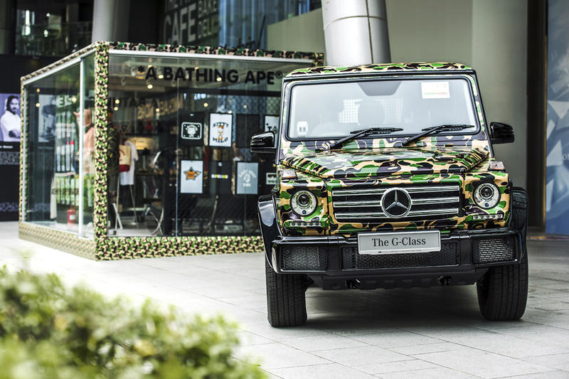 BAPE Exhibition Singapore Streetwear Fashion Mercedes-Benz G-Class Cars Toys