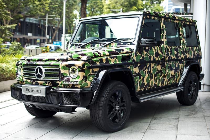 BAPE Exhibition Singapore Streetwear Fashion Mercedes-Benz G-Class Cars Toys
