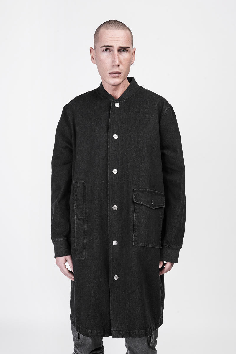 CGNY 2017 Spring Summer Black Long Coat