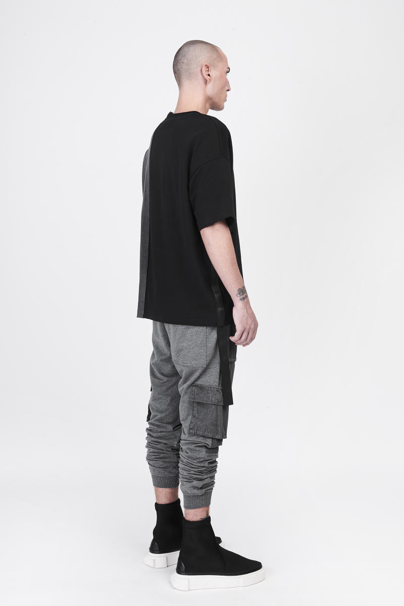 CGNY 2017 Spring Summer Grey Black T Shirt