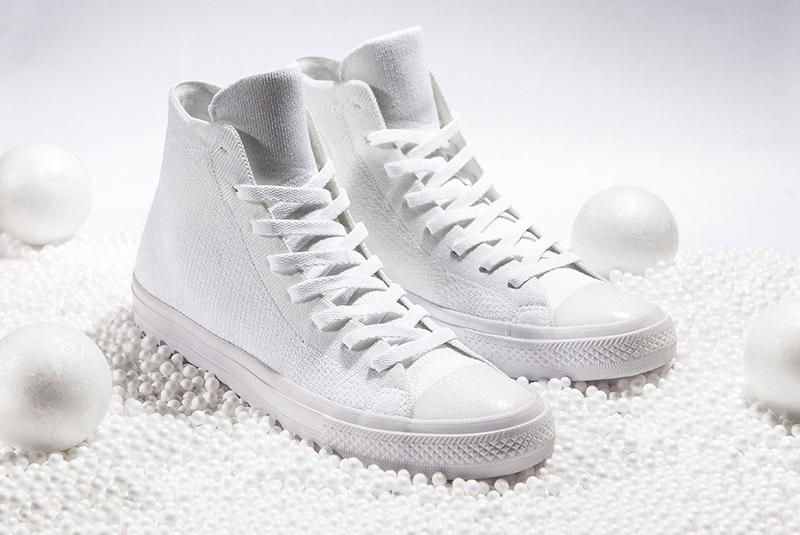 new concept b1cdb f0223 Converse Chuck Taylor All Star x Nike Flyknit All-White ...
