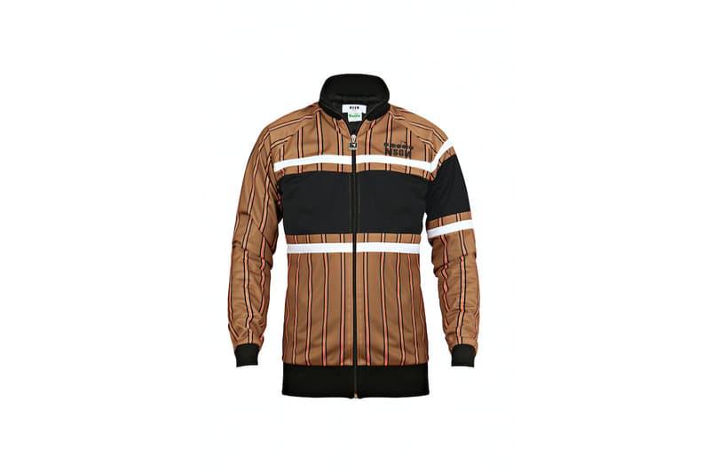 diadora msgm fw17 track jacket gold