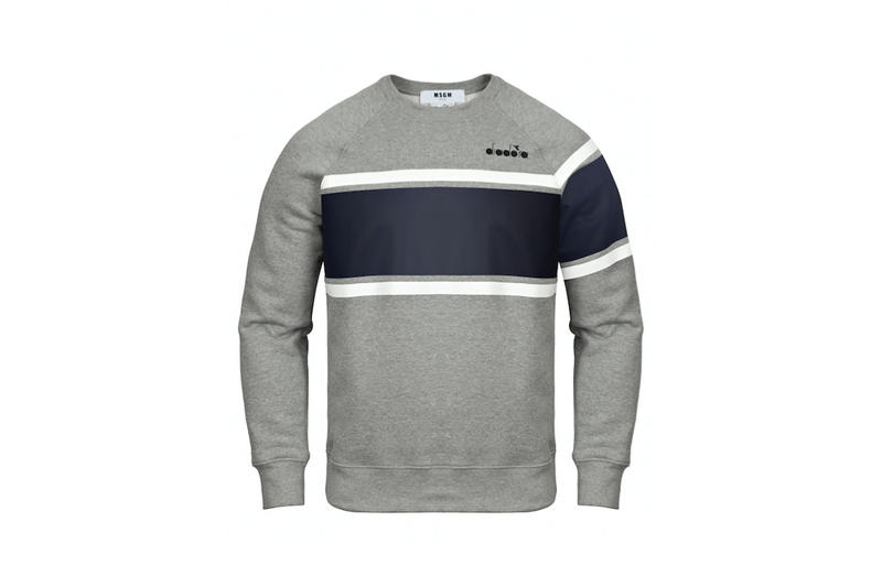 diadora msgm fw17 grey sweater