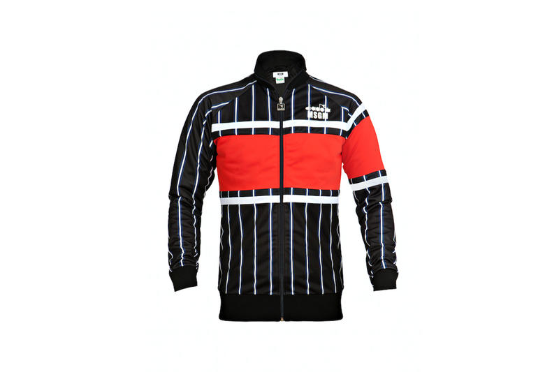 diadora msgm fw17 track jacket red navy