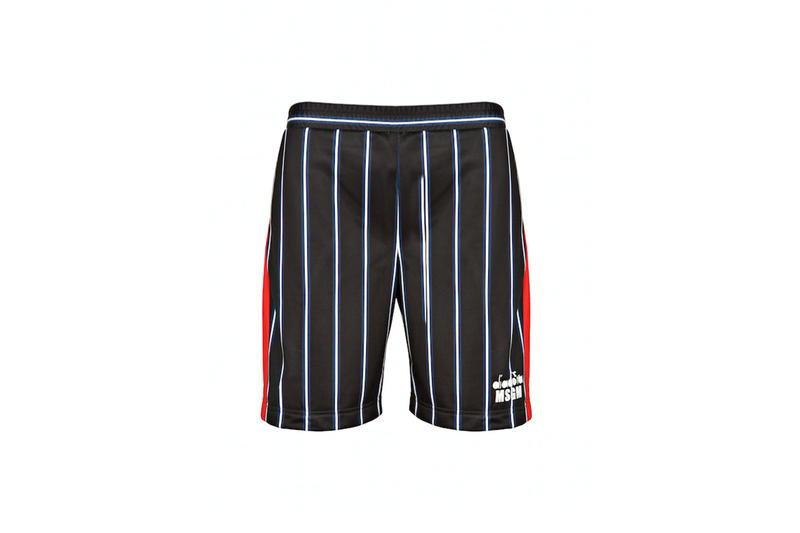 diadora msgm fw17 striped shorts