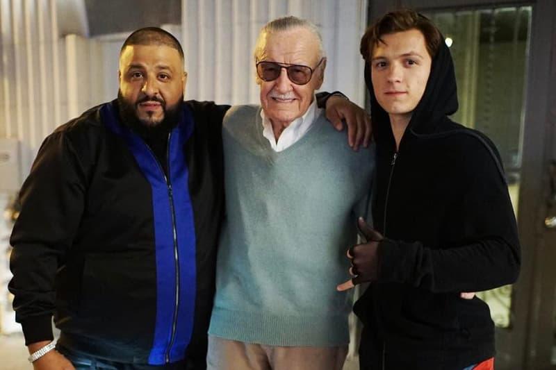 dj khaled stan lee tom holland spider man marvel