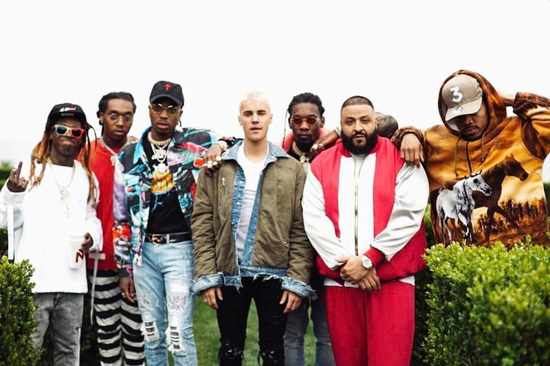 DJ Khaled Chance the rapper Lil Wayne Justin Bieber Quavo