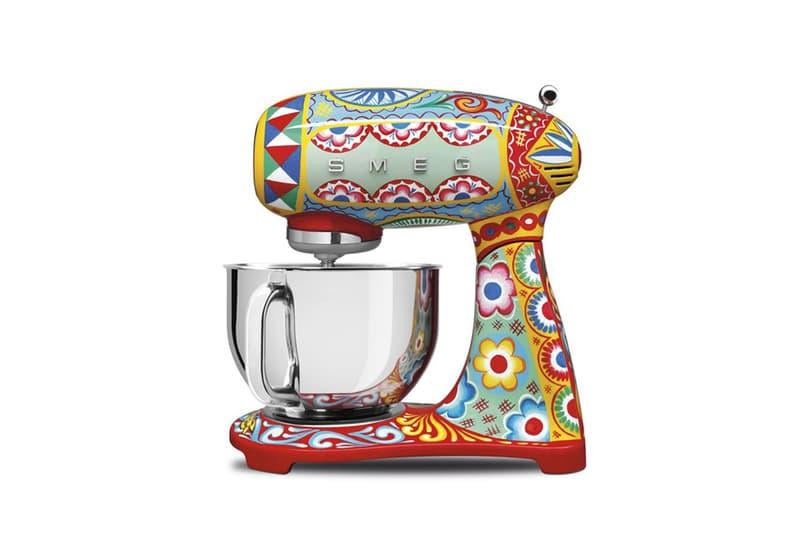 dolce & gabbana floral vibrant kitchen appliances