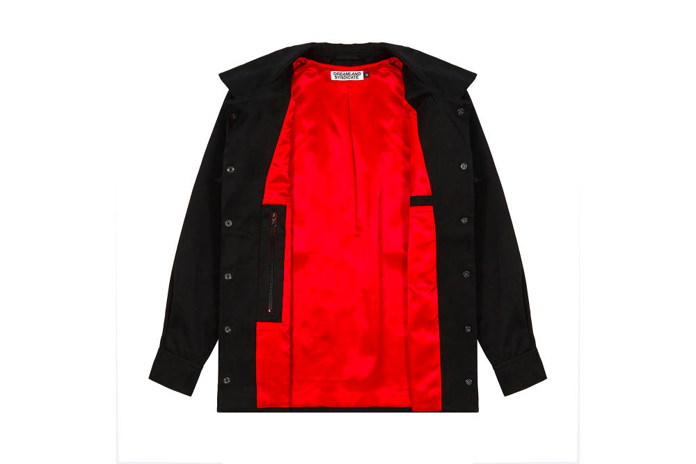 Dreamland Syndicate Black Coach Jacket Red Lining