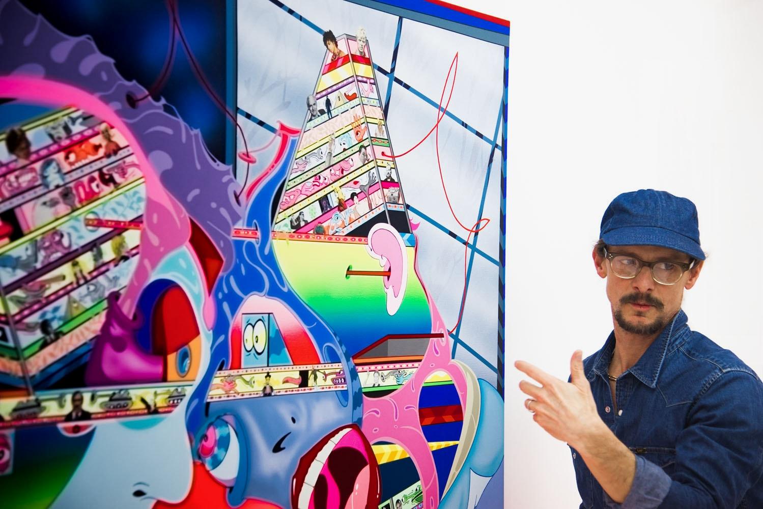Erik Parker on KAWS & His Artwork 2017 Interview Brian Donnelly Run With the Hunted Hong Kong Art Basel 2017 AISHONANZUKA Air Jordan 4