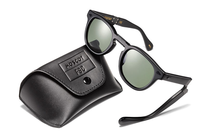 03304ed84974 Complete with a matte black finish and co-branded case. Freemans Sporting  Club Moscot Foldable Lemtosh Sunglasses