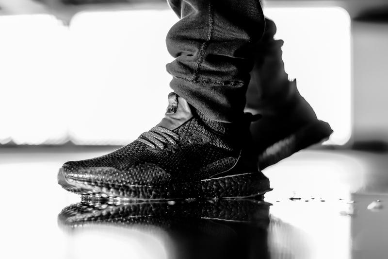 "HAVEN x adidas Consortium ""Triple Black"" UltraBOOST On Feet Look HYPEBEAST Leather Reflective Laces"