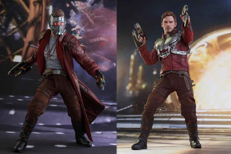 Hot Toys Guardians of the Galaxy Vol 2 Star Lord Baby Groot Life Like Action Figure