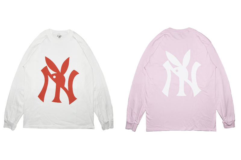 Kamil NY Playboy White + Pink Longsleeve T-shirt
