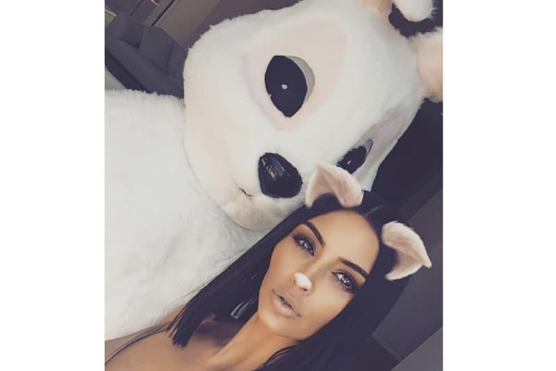 Kanye West 2017 Easter Bunny Look Kim Kardashian