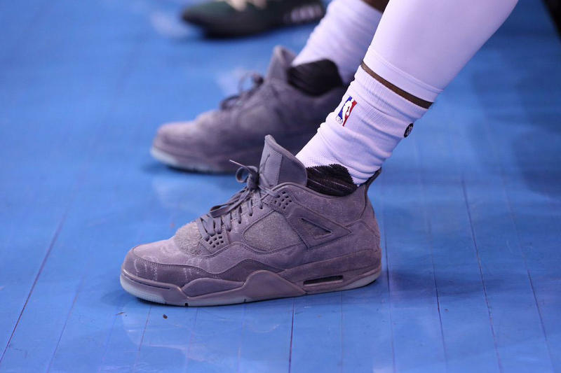 Gary Payton II KAWS Air Jordan 4 NBA Game Milwaukee Bucks Basketball Oklahoma City Thunder
