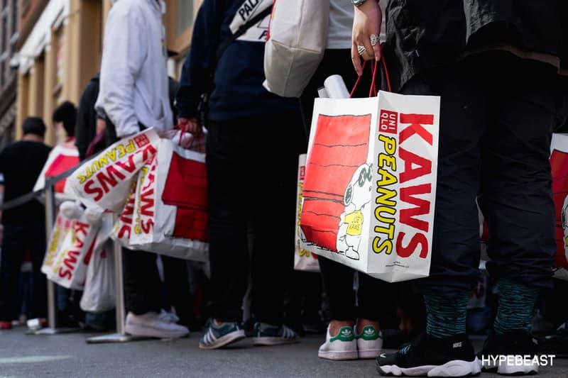 KAWS Peanuts Uniqlo SoHo NYC Store Signing