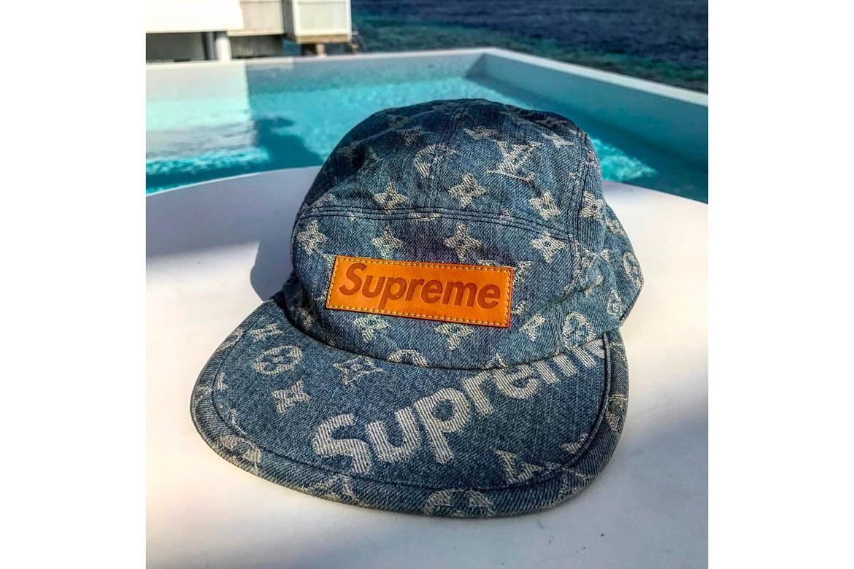 006aafe0fa9 Kim Jones Teases New Supreme x Louis Vuitton Hat   HYPEBEAST
