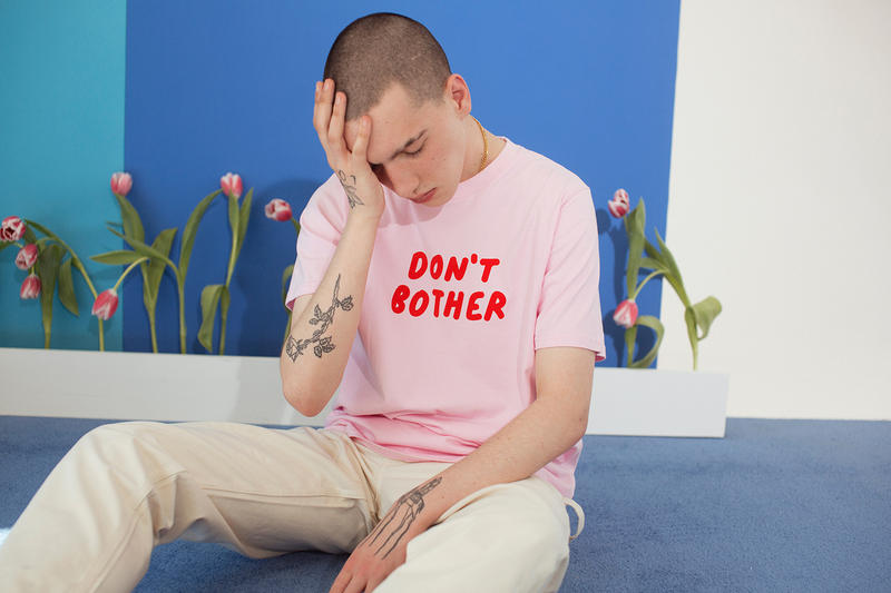 Lazy Oaf Summer 2017 Don't Bother Pink T-Shirt