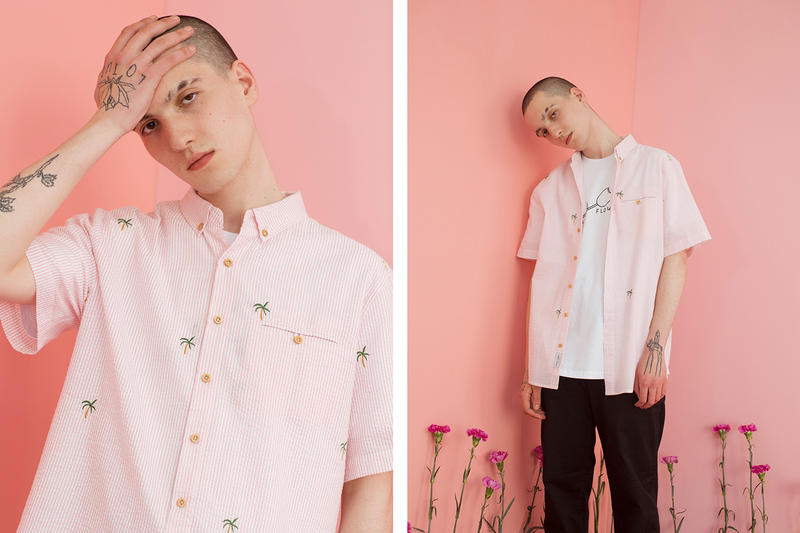 Lazy Oaf Summer 2017 Pink Palm Tree Shirt